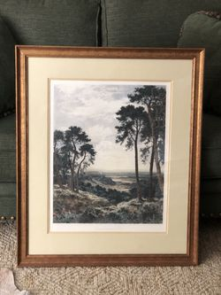 """Picture - Custom Framed """"Surrey's Pleasant Hills"""" Print for Sale in Colleyville,  TX"""