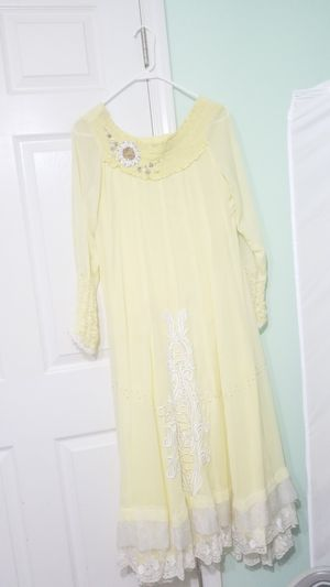Yellow and white Pakistani shalwar kameez dress for Sale in Alexandria, VA