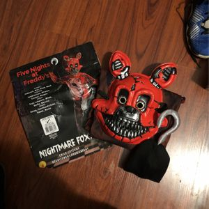 Five Nights At Freddy's Kids Halloween Costume, Size L (8-10) for Sale in Burbank, CA