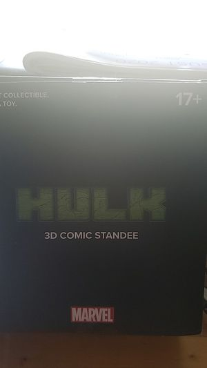 Mint condition Hulk 3D comic standee by Marvael for Sale in Henderson, TX