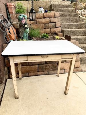Pick up today vintage antique enamel top kitchen table or island for Sale in Monroeville, PA