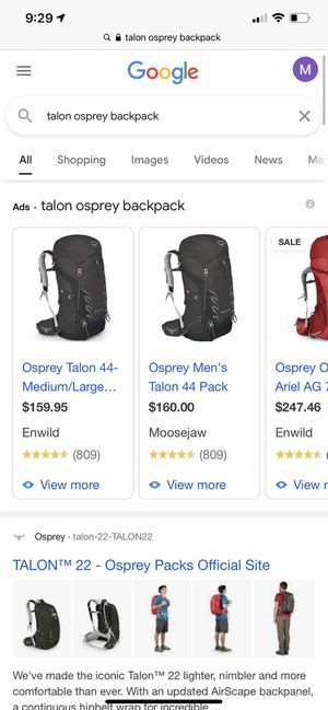 Osprey backpack for Sale in Anaheim, CA