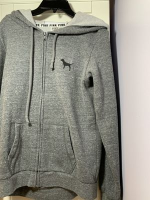 Pink Victoria secret gray hoodie for Sale in Marlboro Township, NJ