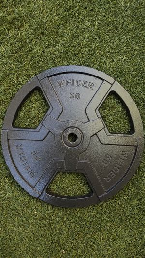"""NEW 50Lb. Standard 1"""" Weider weight plate. for Sale in Gilroy, CA"""