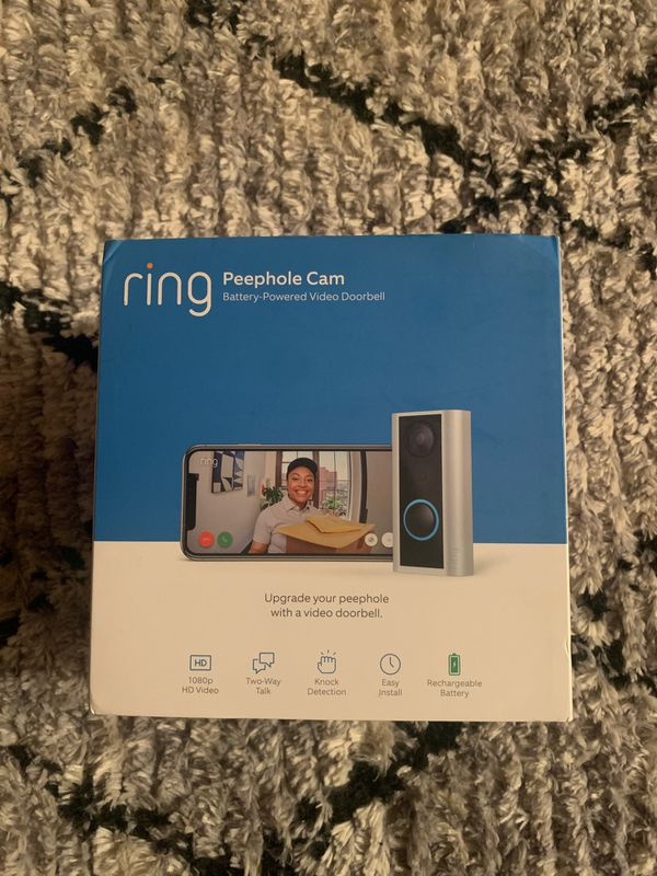 Ring peephole doorbell