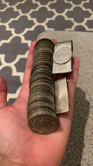 Mexican silver coins and money clips for Sale in Portland, OR