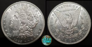 1898 P AU/UNC Morgan silver dollar old US coin for Sale in Anaheim, CA