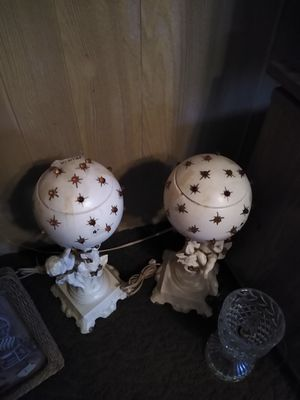 Two Cherub lamps for Sale in PA, US