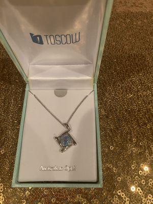 New Genuine Opal Pendant on Silver Chain for Sale in Grand Rapids, MI