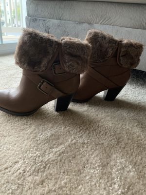 Brown Fur Trim Boots for Sale in Odenton, MD
