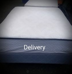 Thick Heavy Queen Memory foam Mattress And Box Spring With Frame for Sale in Clackamas,  OR