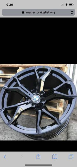 """Bmw blk new x5m style 20"""" rims tires set for Sale in Hayward, CA"""