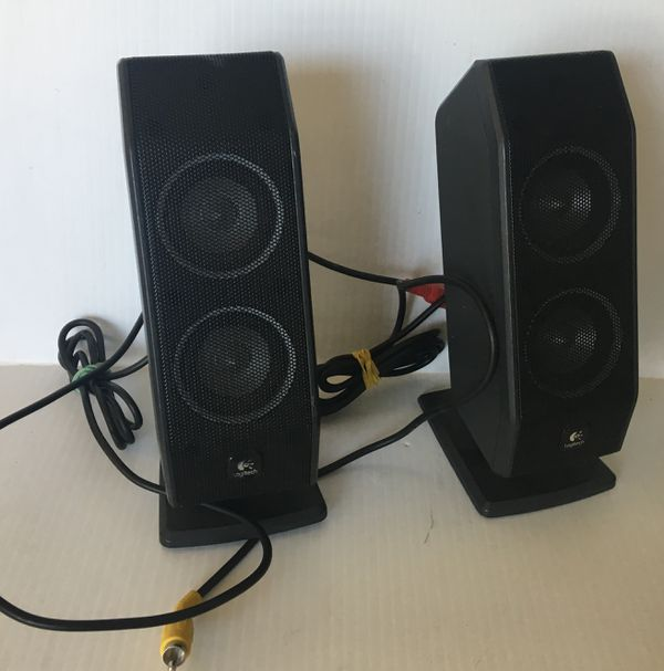 LOGITECH Black 3 Speakers Subwoofer Audio System AS IS