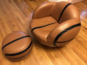 Basketball Chair & Ottoman for Kids, NBA fans, Like New! for Sale in Alhambra, CA