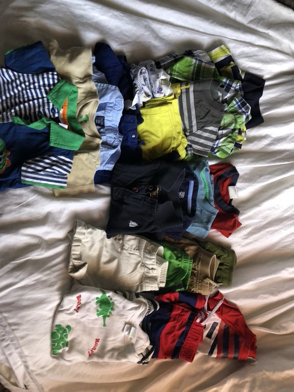 Baby Boy Summer Clothing! Size 6-12 months. Rompers, shorts and polo shirts!