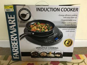 New induction cooker w/ frying pan for Sale in East Brunswick, NJ