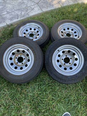 Trailer wheels and tires five lug for Sale in Los Angeles, CA