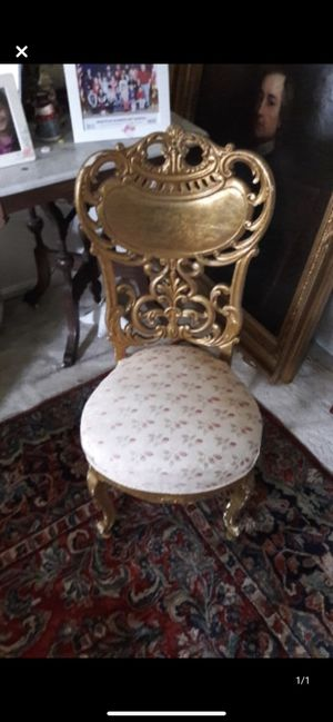 Gold leaf Antique chair OPEN TO OFFERS for Sale in Gaithersburg, MD