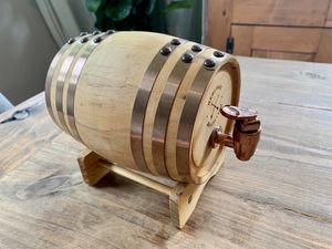 Small Whiskey Barrel with Stand for Sale in Charlotte, NC