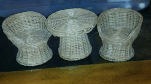 Antique wicker table and two chairs doll furniture from the 40s or 50s for Sale in Thomasville, NC