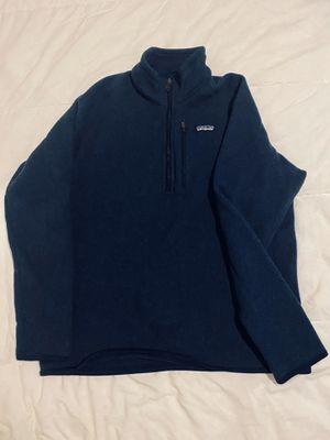 Patagonia 1/4 Zip Pullover Fleece (Navy) - Large for Sale in Alexandria, VA