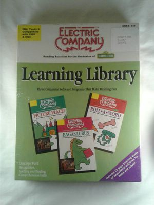 the electric company reading activities for the graduates of sesame street reading library software for Sale in San Bernardino, CA
