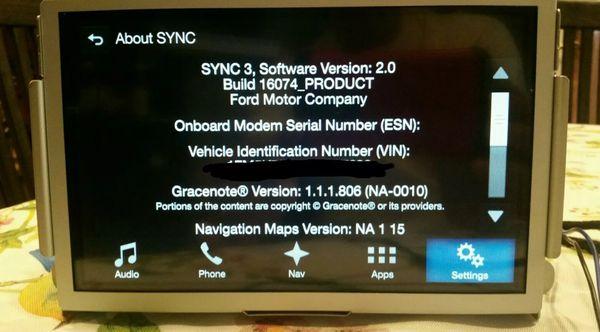 Sync 3 Apim Part Number