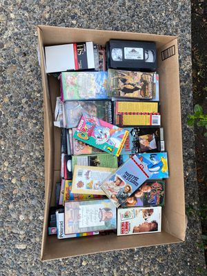 Large box of VHS movies for Sale in Camas, WA