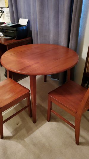 Drop leaf Breakfast Table and Two Chairs for Sale in Apple Valley, CA
