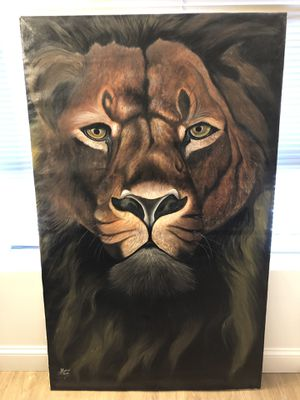 5 feet tall Lion Painting by Local Kenyan artist for Sale in Boston, MA
