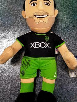 Clint Dempsey Autographed Seattle Sounders FC Stuffed Figure for Sale in Aberdeen,  WA