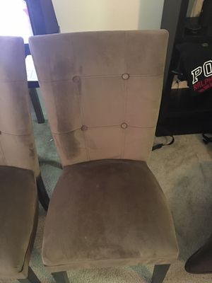 Brown Microfiber Parson Dining Chair Set (4) for Sale in Alexandria, VA