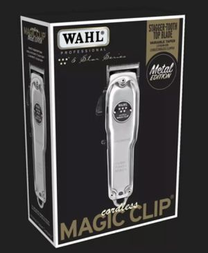 WAHL MAGIC CLIPPPER CORDLESS METAL + 3 PREMIUM GUIDES 90 MIN RUN TIME # 8509 for Sale in Los Angeles, CA