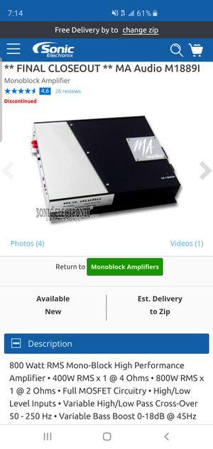 MA AUDIO amp monoblock class D M1889i for Sale in Wahneta, FL