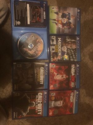 Ps4 7 games for Sale in Fairmont, WV