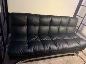Leather Futon/Chaise Lounge Set for Sale in Denver, CO