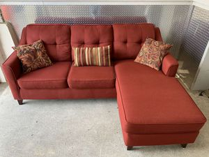 Red sectional couch (delivery free) for Sale in Westlake, MD