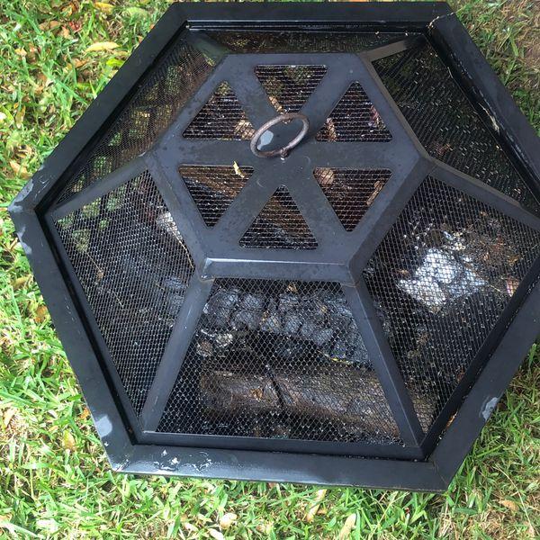 Endless summer hex shaped fire bowl pit lattice