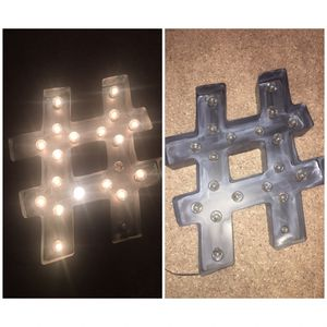 Large Hashtag Sign Wall Light for Sale in Lakeland, FL
