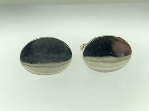 Tiffany & Co.~Sterling Silver Classic Oval Cuff Links No Monogram w/Toggle Back for Sale in Miami, FL