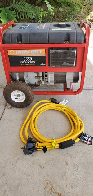 Troy Bilt 5550 watt gas generator for Sale in Lakeside, CA