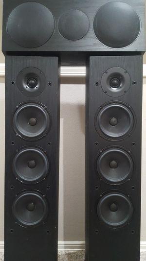 PIONEER SP-FS52 FRONT + SP-C21 CENTER SPEAKER SYSTEM ANDREW JONES DESIGN for Sale in Bothell, WA