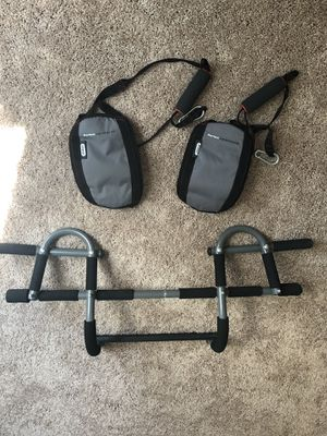 Pull-up bar with straps for Sale in Raleigh, NC