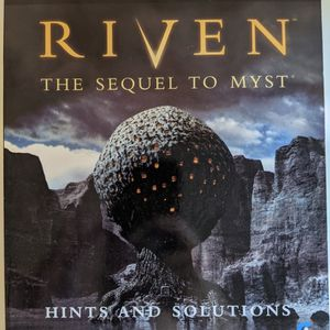 Official Riven Hints and Solutions: The Sequel To Myst BradyGames Strategy Guide for Sale in Lakeside, CA