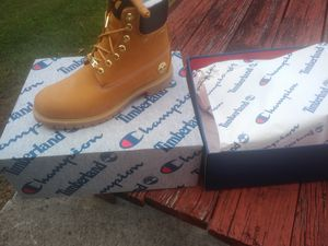 Men's Brand New Champion timberlands org 100 asking200 cash for Sale in Durham, NC