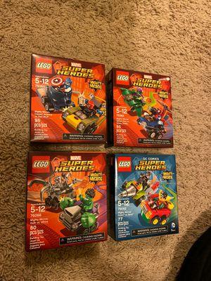 LEGO MARVEL Mighty Micros 76066 Hulk vs. Ultron 76062 Robin vs Bane 76064 Spider-Man vs Green Goblin 76055 Captain America vs Red Skull for Sale in Sugar Land, TX