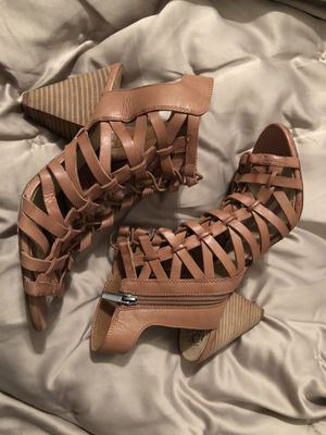 Vince Camuto Camel Sandals Size {link removed}.5euro for Sale in Beaverton, OR