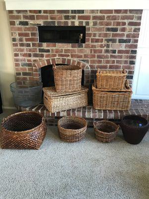 Pottery Barn Baskets organizers potted plant holders individually priced for Sale in Newberg, OR