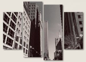 """24""""x15"""" - 4 Piece Canvas by Artist/Photographer - """"City in B&W"""" Wall Art - Home Decor for Sale in Dallas, TX"""