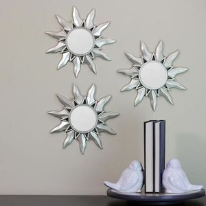 Silver Sunburst Mirror Set of 3 Wall Decor for Sale in Hemet, CA